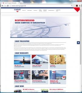 CARAT-Homepage im neuen Design