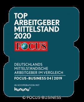 """CARAT ist AUCH 2020 """"TOP-Arbeitgeber Mittelstand"""""""