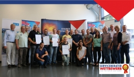 Die Teilnehmer des Serviceberater-Wettbewerbs 2017